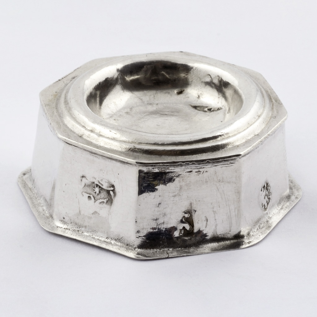 A Late 17th Century English Toy Silver Salt Cellar.