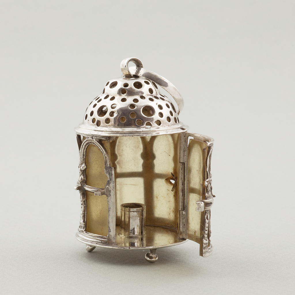 A Mid-18th Century Dutch Silver Toy Lantern.