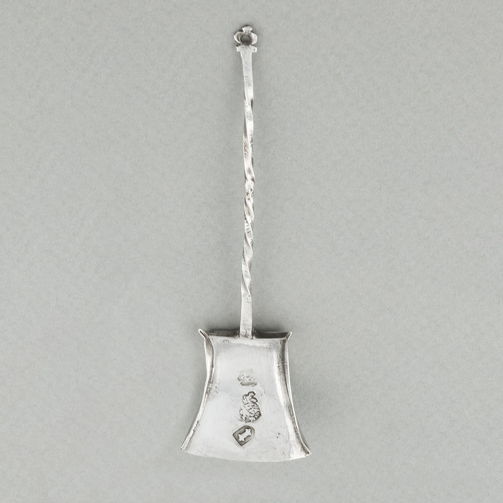 A Late 17th Century Toy Silver Fire Shovel.