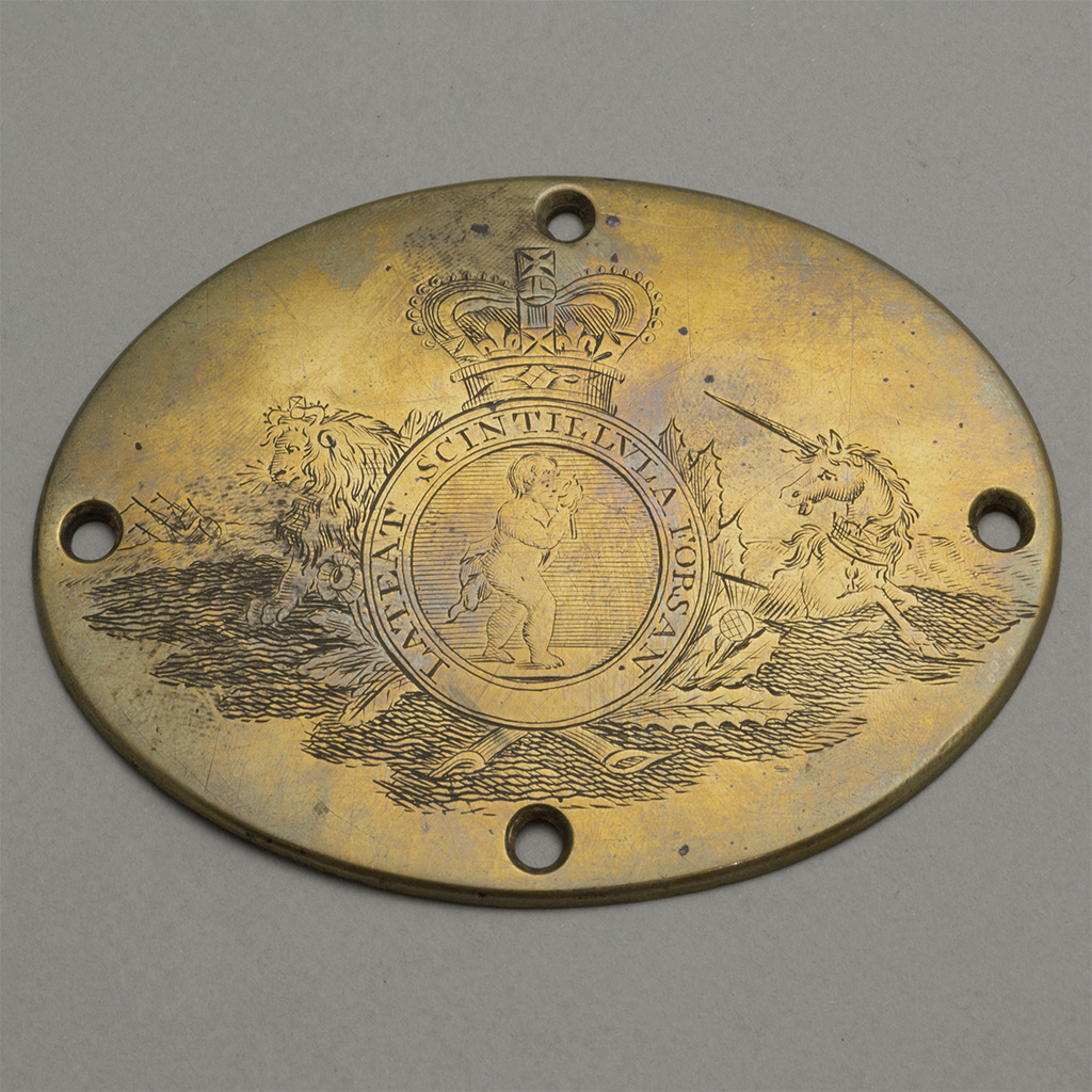 An Early Brass Plaque For The Royal Humanitarian Society.