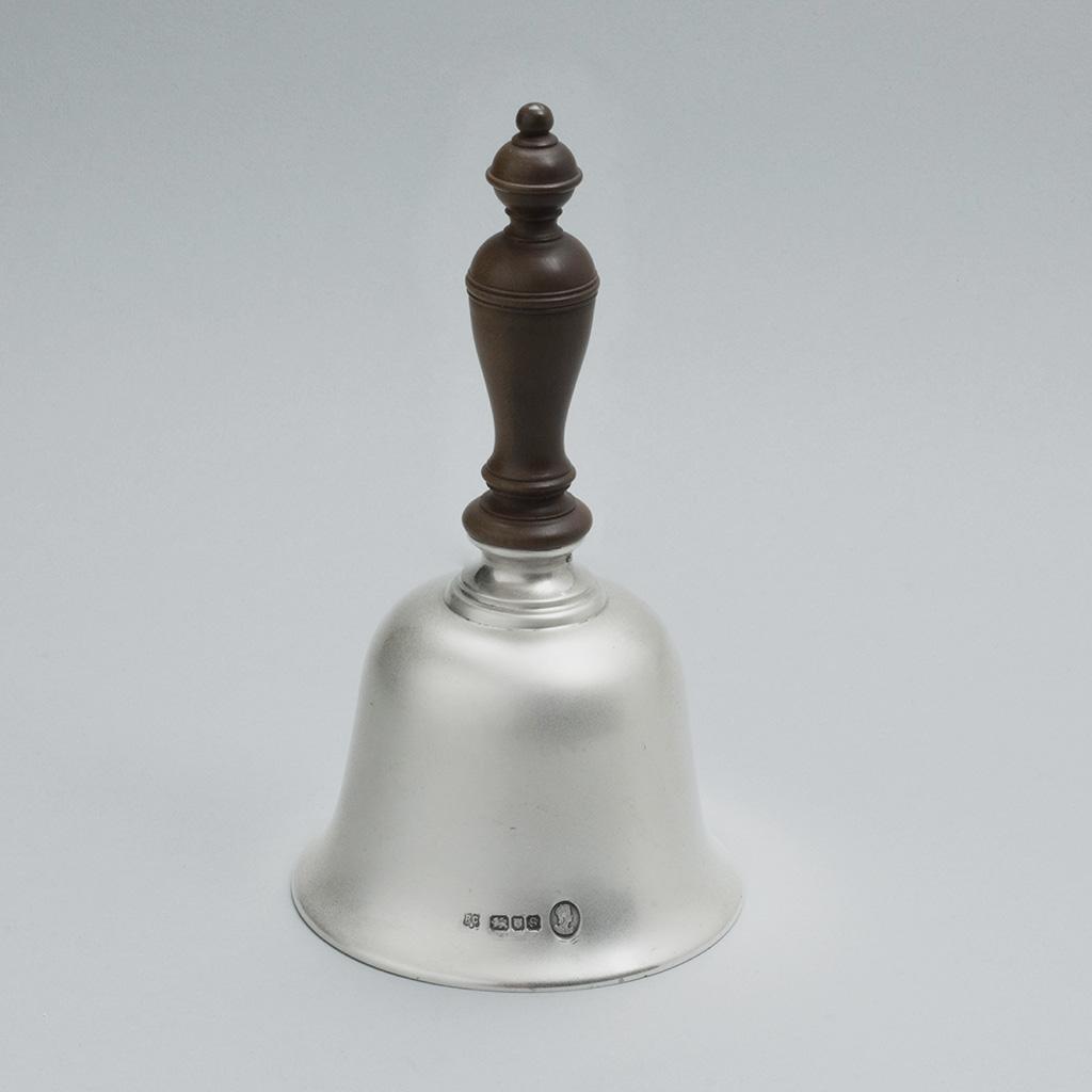 An Unusually Large Silver Handbell.