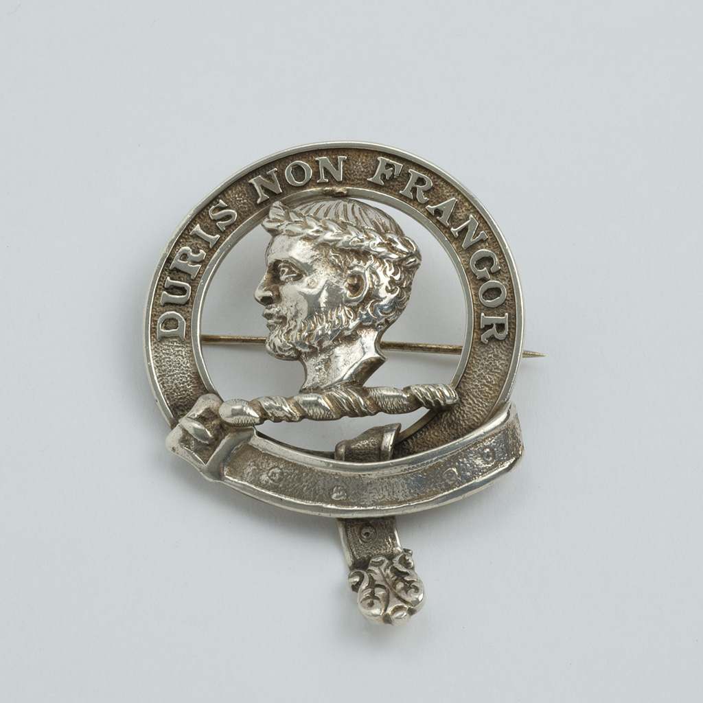 A Scottish Silver Plaid Brooch.