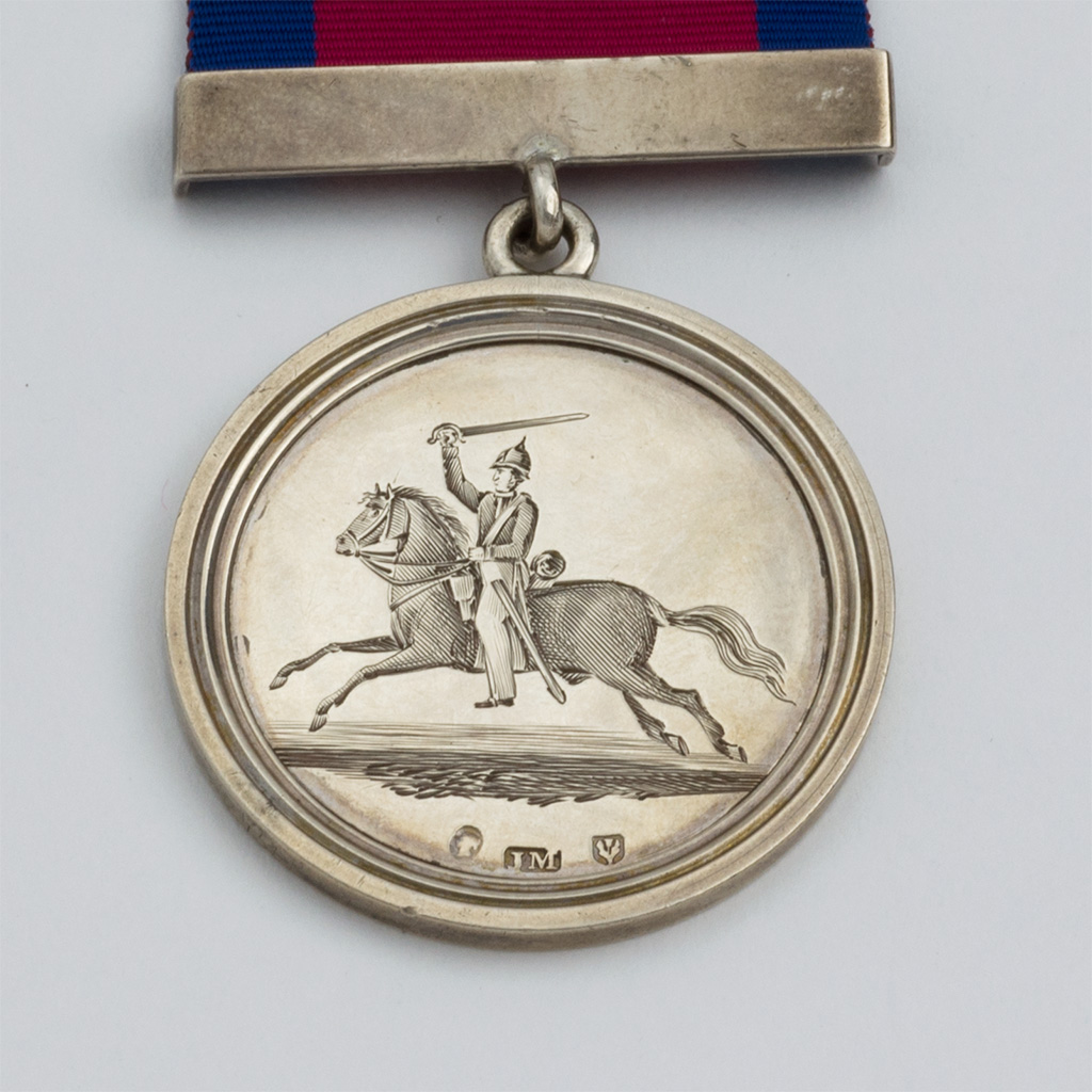 A Victorian Silver Scottish Yeomanry Medal.