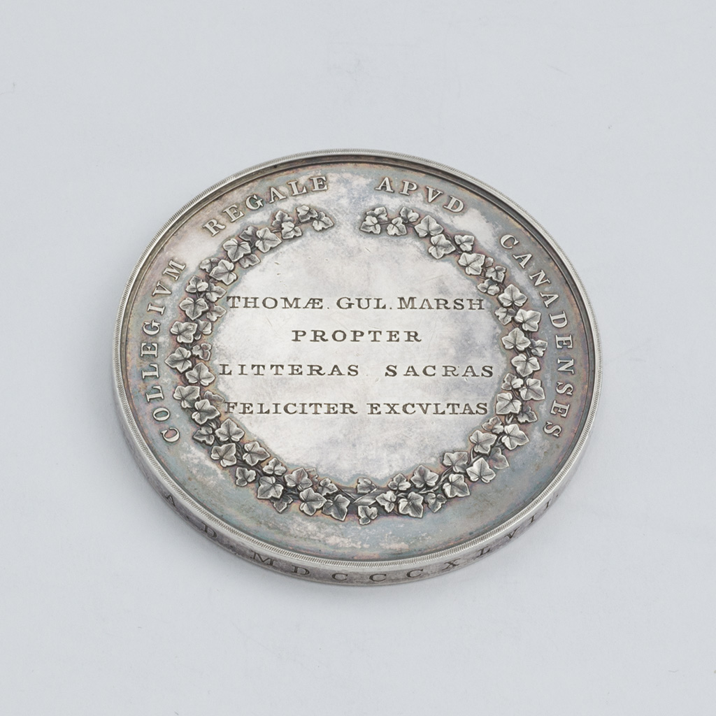 A Victorian Silver Medal For Kings' College, Canada.