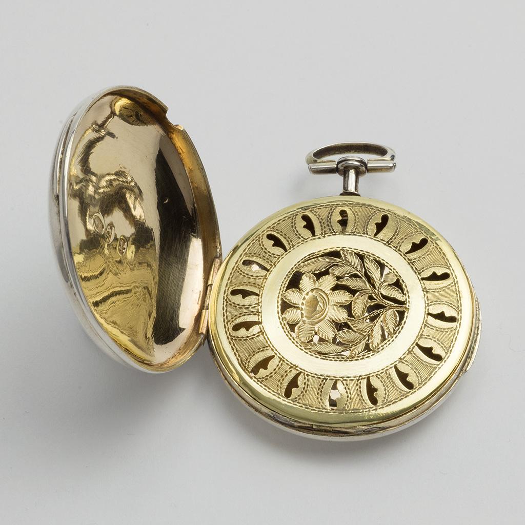 An Unusually Large George III Silver Watch-shaped Vinaigrette.