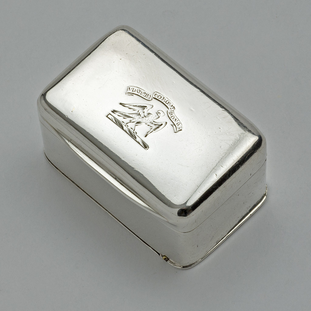 A George III Silver Nutmeg Grater For A Scottish Family.