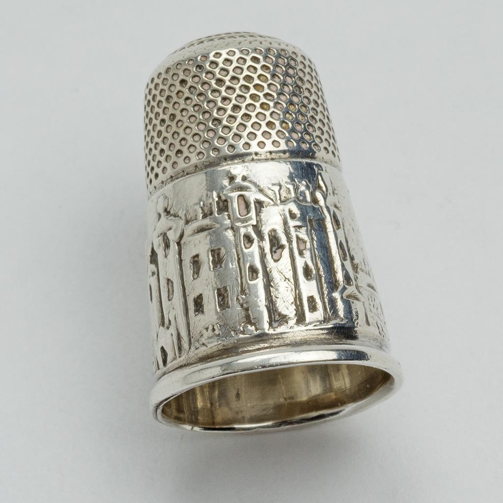 A Victorian Silver Abbotsford Thimble.