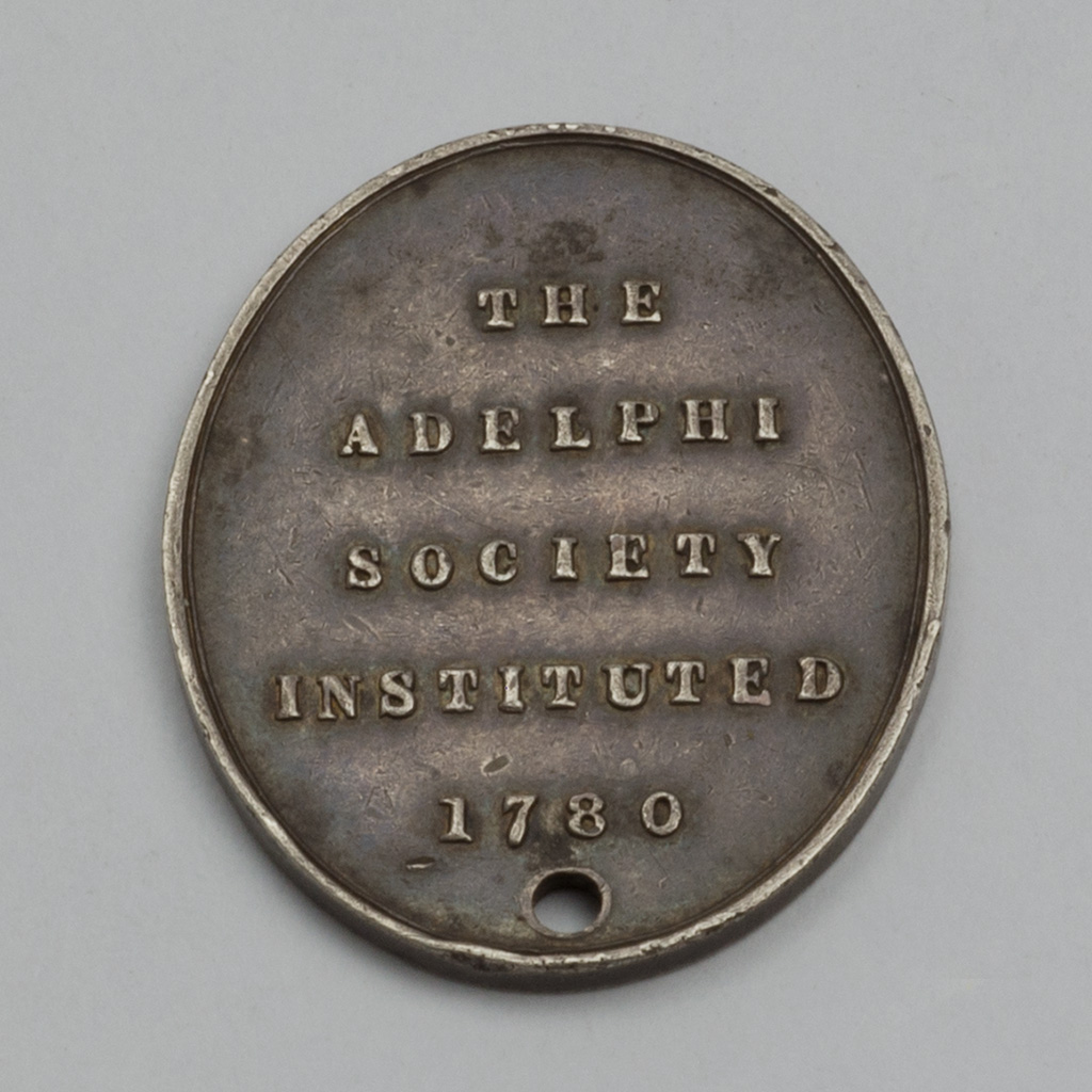 An Unmarked Silver Medal For The Adelphi Society.