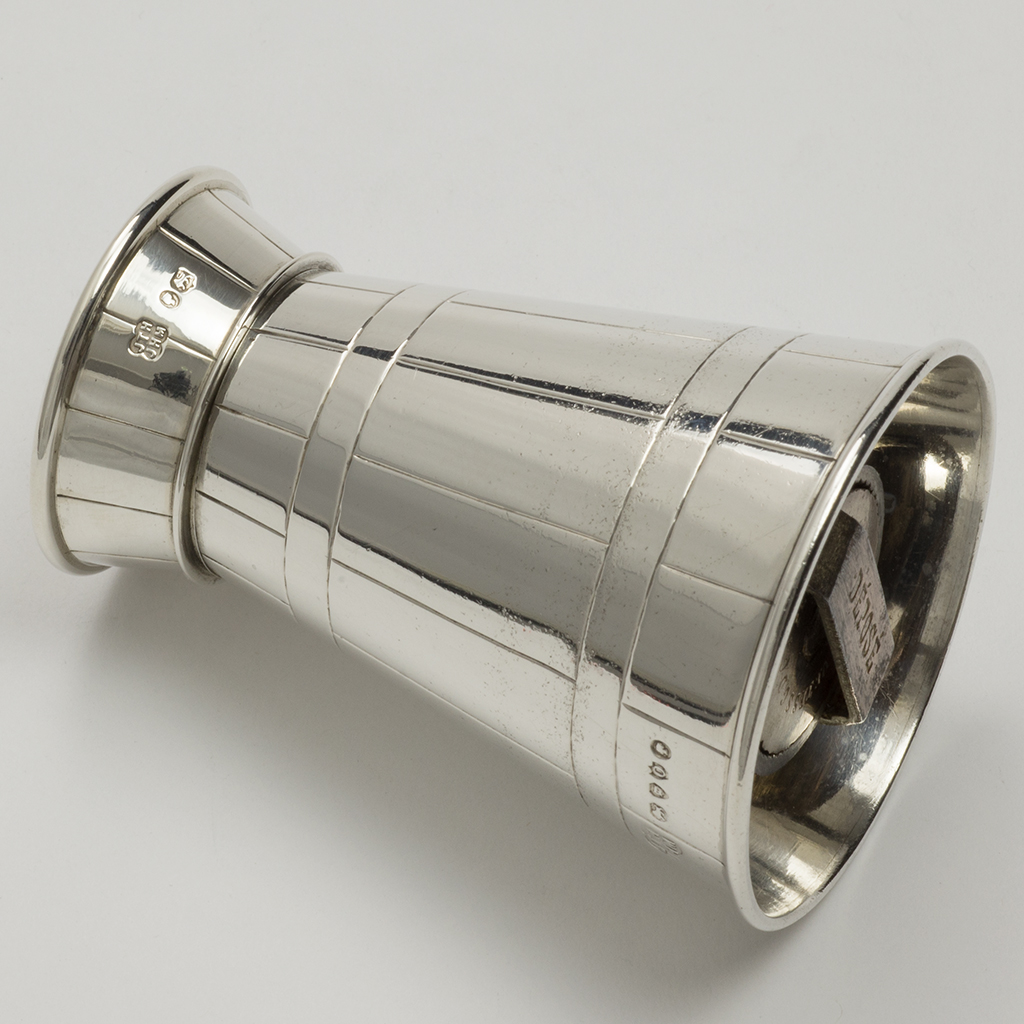 A Victorian Novelty Silver Pepper Grinder In The Form Of A Milk Churn.