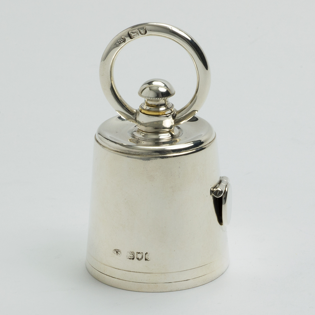 An Edwardian Silver Novelty Pepper Grinder.