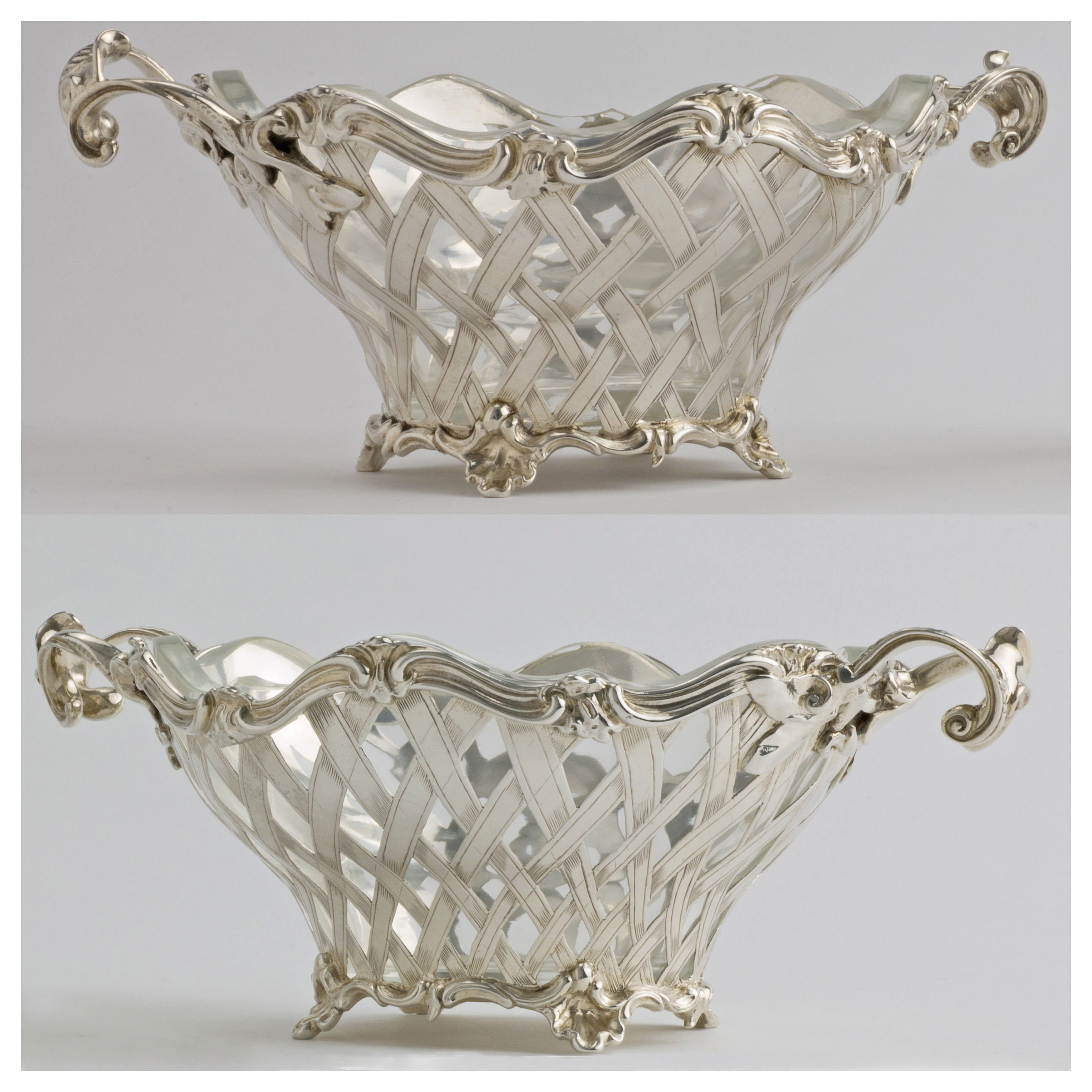 A Pair Of Garrard's Victorian Silver Baskets.