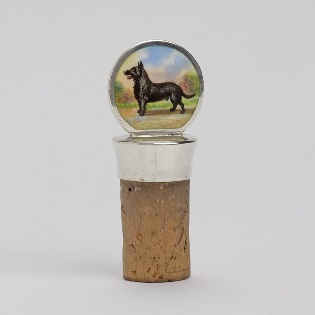 A Dog Lover's Silver Wine Bottle Cork