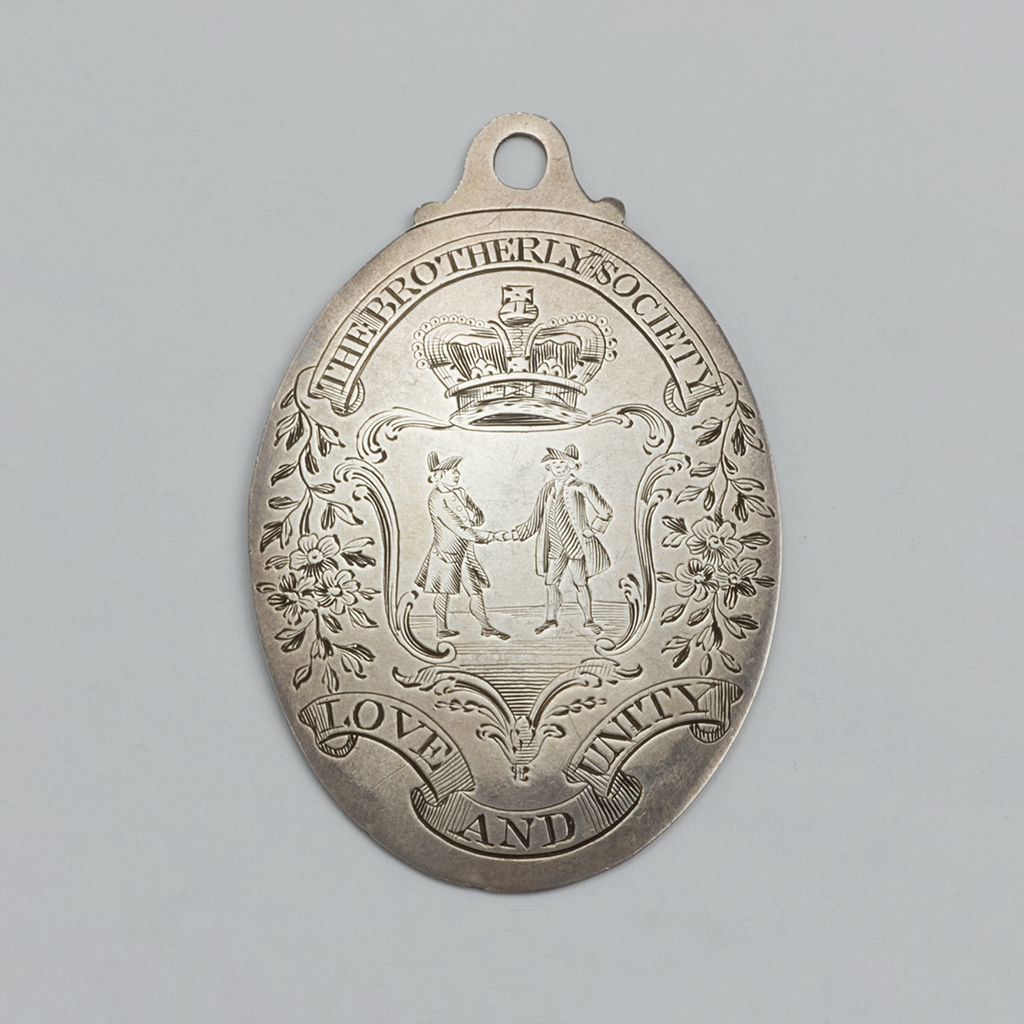 A George III Silver Badge For The 'Brotherly Society.'
