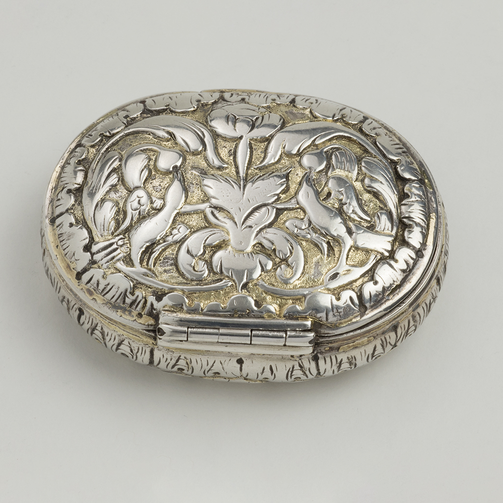 A Late 17th Century European Unmarked Silver Box.