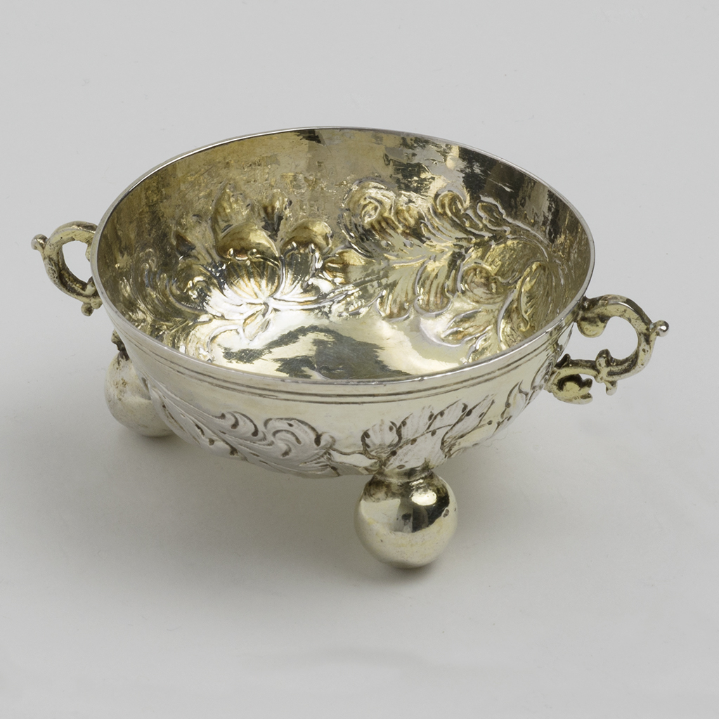 A 17th Century German Toy Silver Bowl.