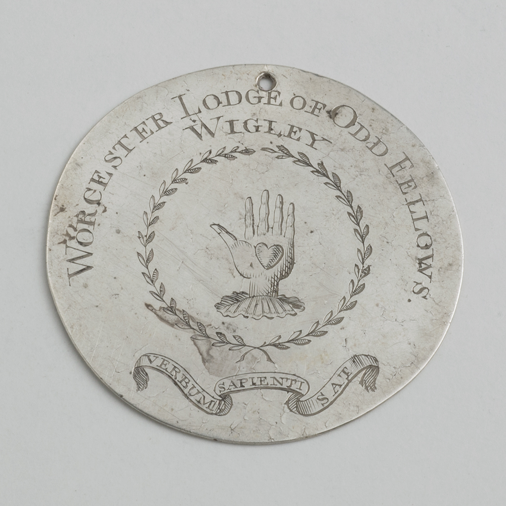 An Unmarked George III Silver Badge For The Worcester Lodge Of Oddfellows.