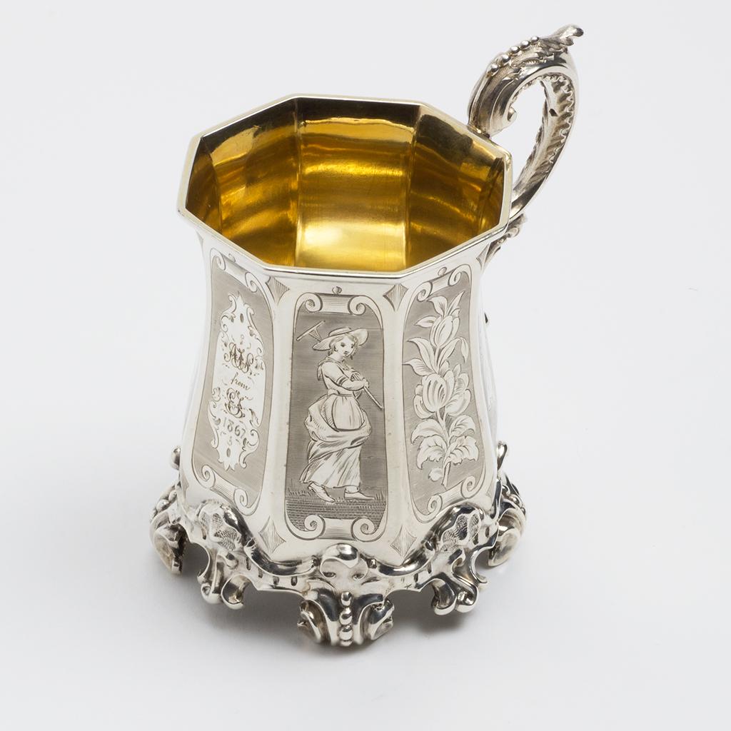 A Victorian Silver Child's Mug.