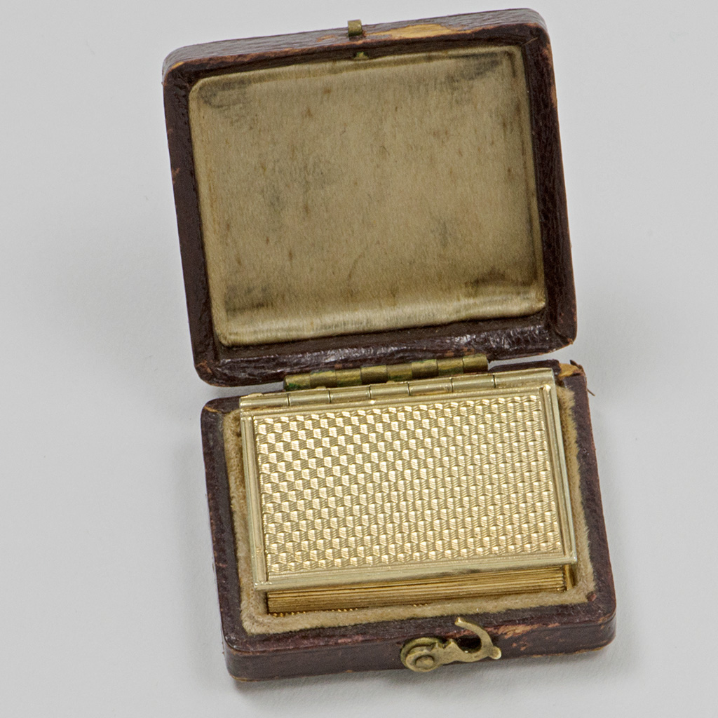 A William IV Silver-gilt Book Vinaigrette.