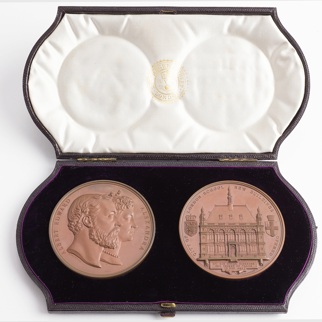 A Cased Pair Of Victorian Medals For The City Of London School.