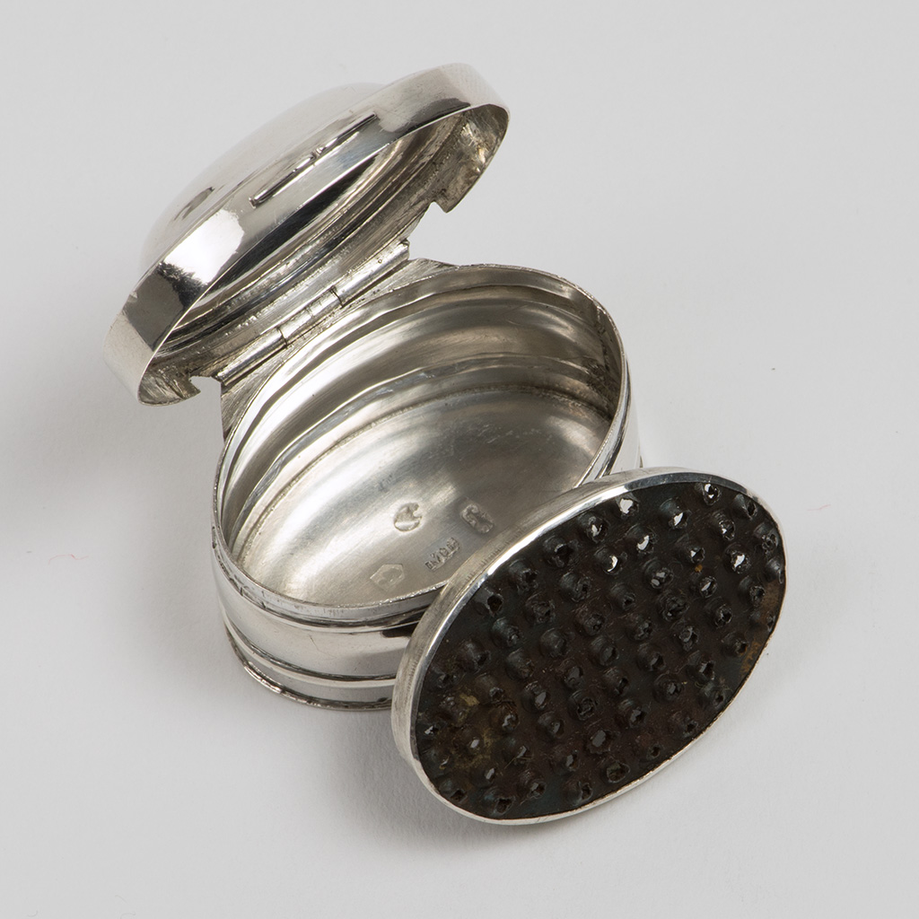 A George III Plain Silver Nutmeg Grater.