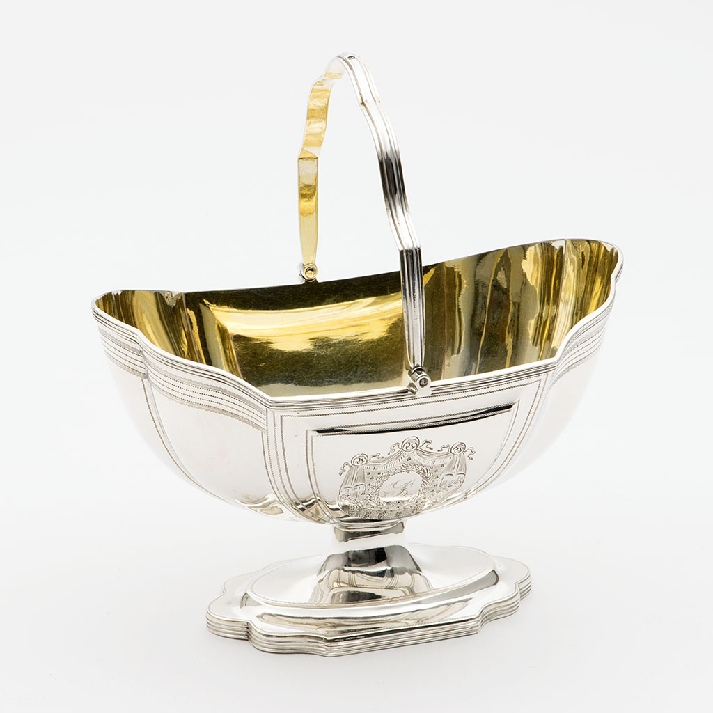 A George III Silver Helmet-shaped Basin.