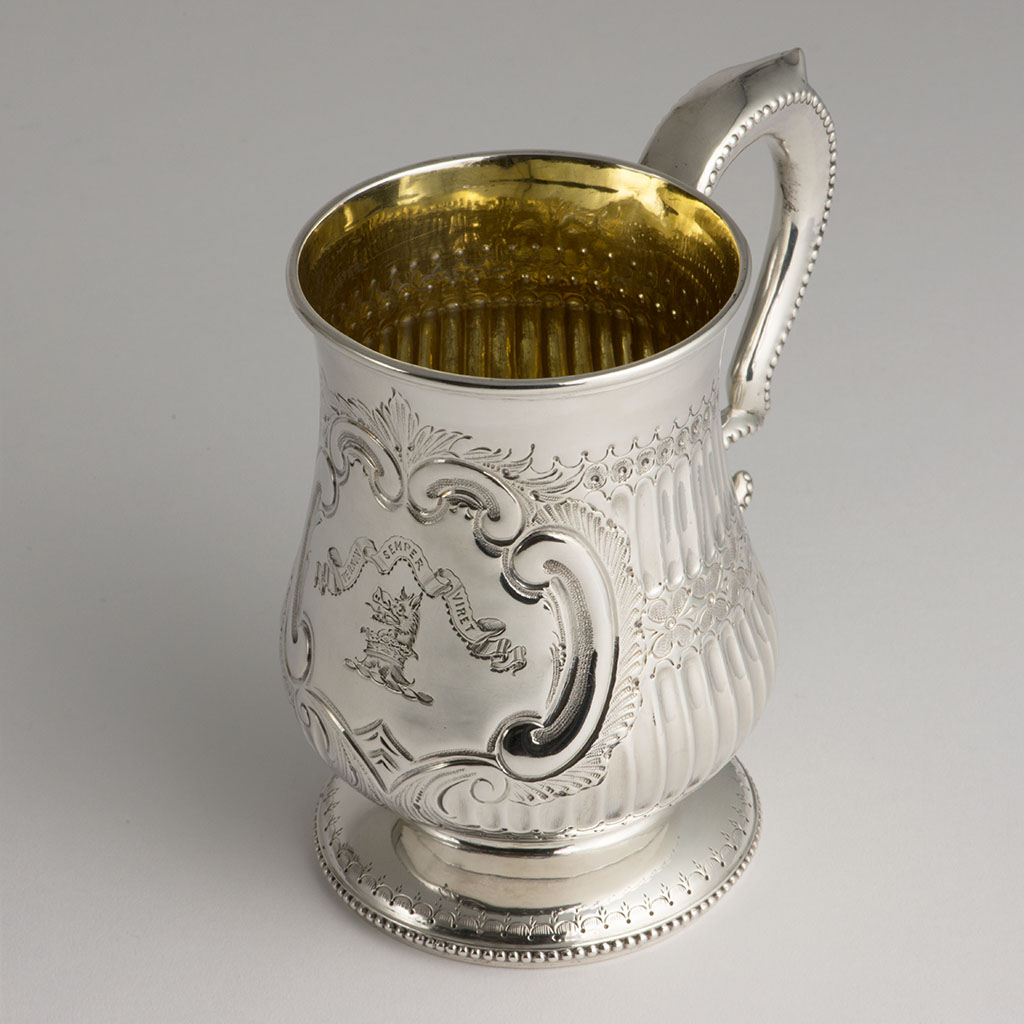 A Victorian Irish Silver Pint Mug.
