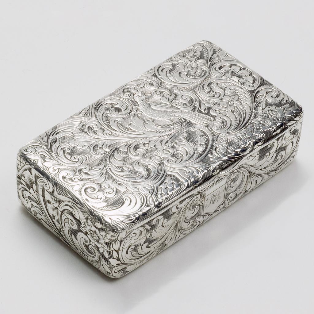 A Victorian Silver Snuffbox.