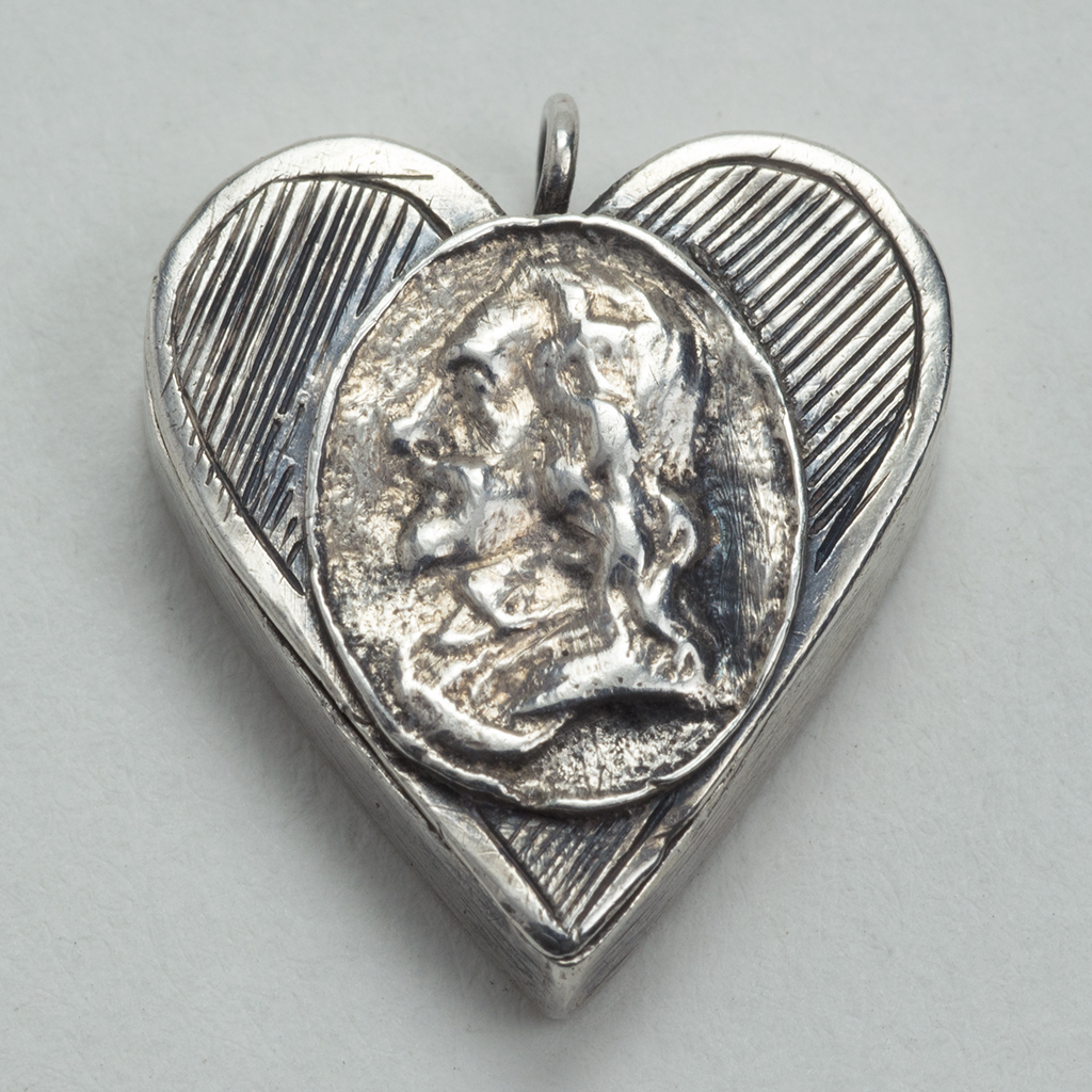 A 17th Century Silver Royalist's Locket.