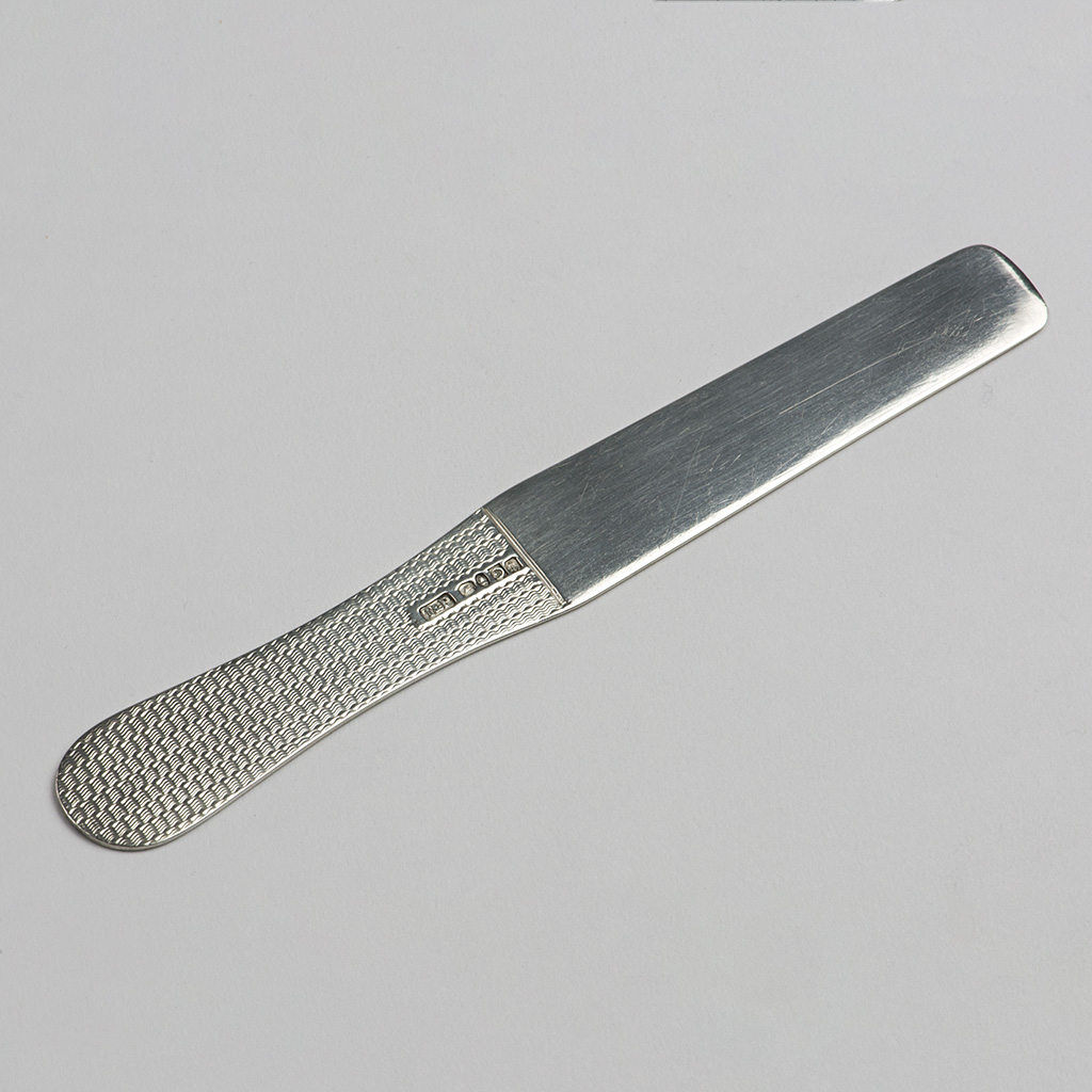A George IV Silver Tongue Depressor Or Spatula.