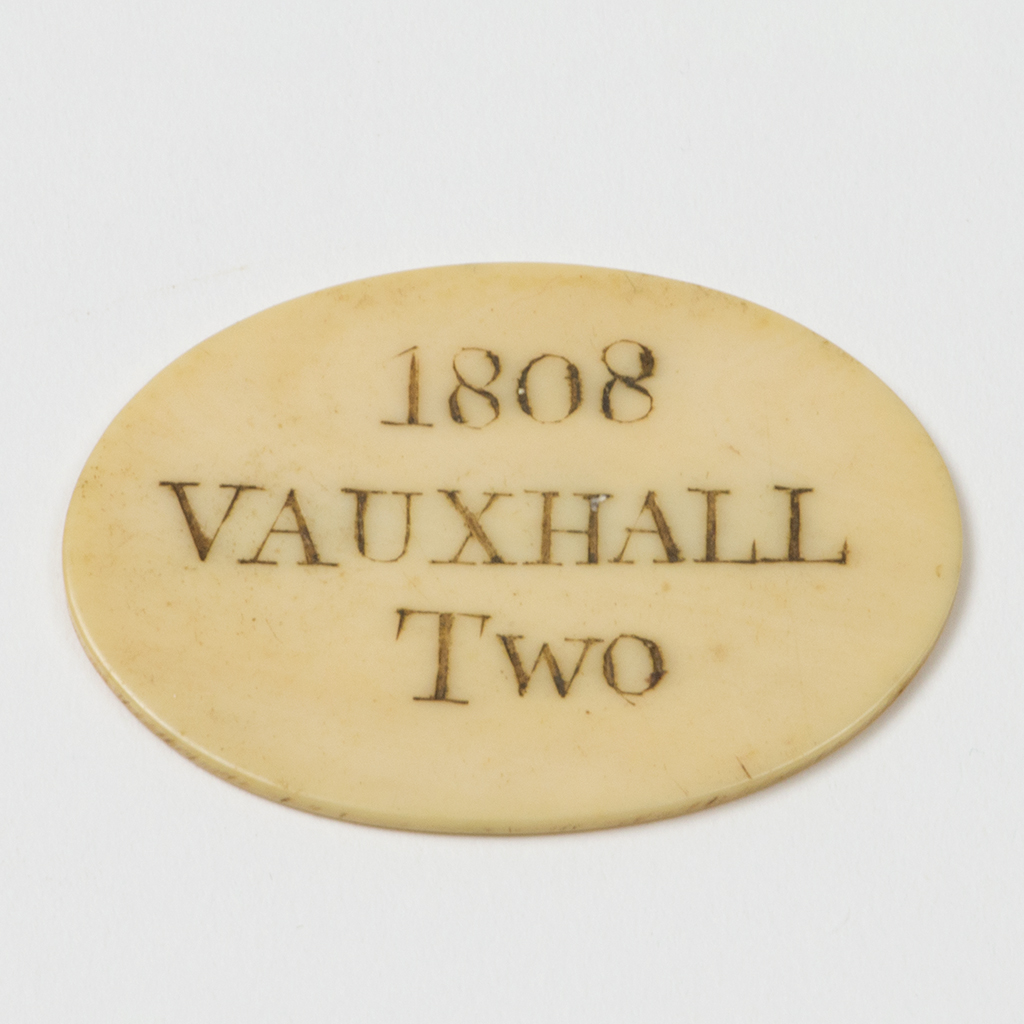 A Georgian Ticket For Vauxhall Gardens.
