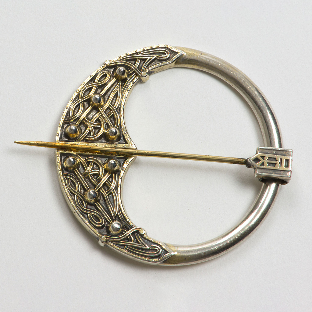 A 19th Century Silver-gilt 'Celtic Revival' Brooch.