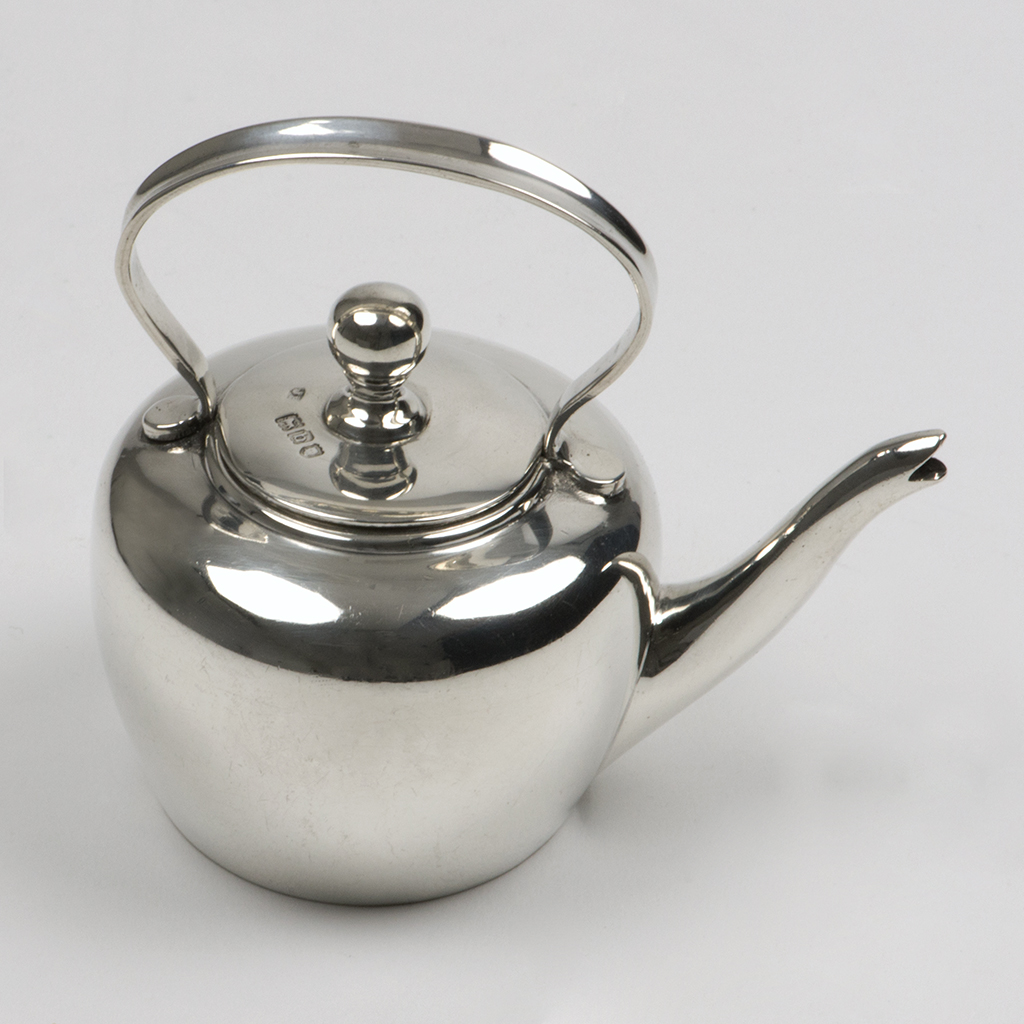 A Late Victorian Silver Miniature Kettle.