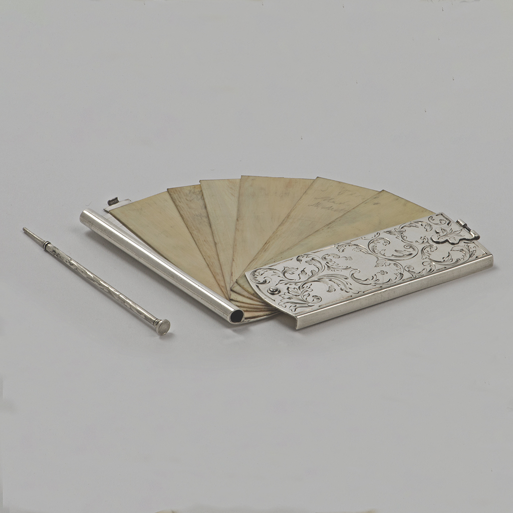 An Exeter Silver Victorian Aide Memoire.