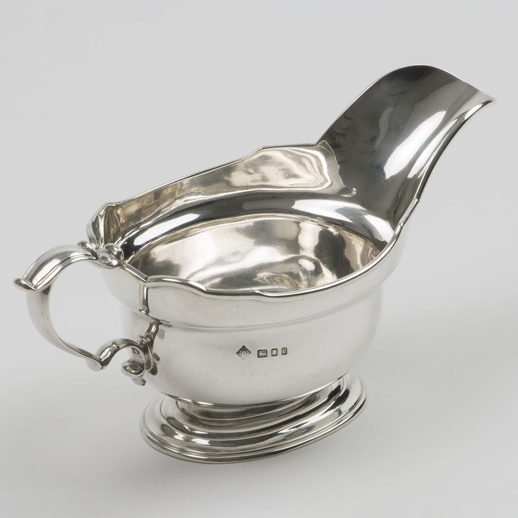 A Silver Sauceboat Marked By J.S. Harman.