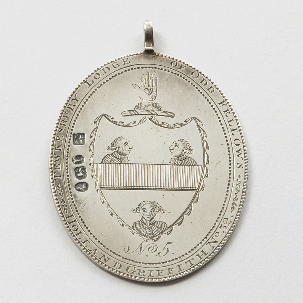 An Interesting George III Silver Jewel For The Tewkesbury Lodge Of Oddfellows.