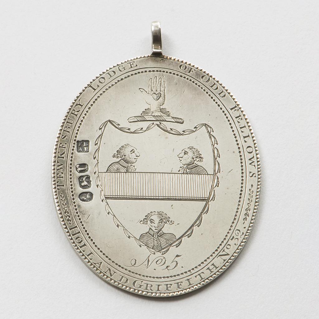 An Interesting George III Silver Jewel For The Tewkesbury Lodge Of Oddfellows.