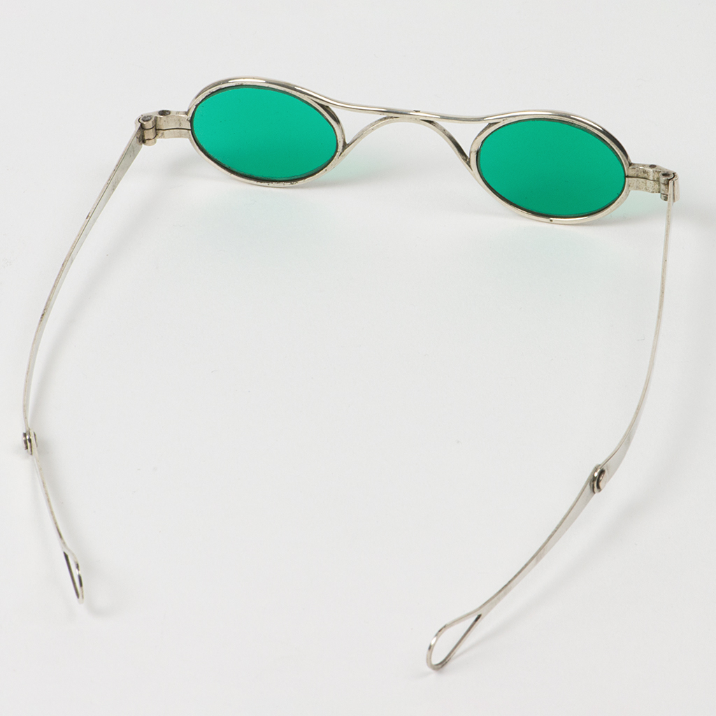 A Pair Of Early 19th Century French Silver Spectacles.