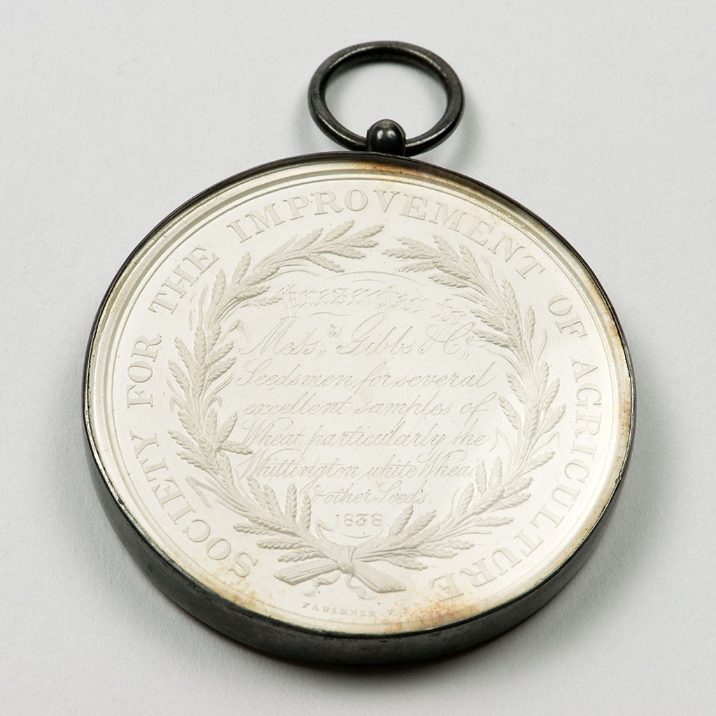 An Early Victorian Silver Agricultural Prize Medal For Wheat.