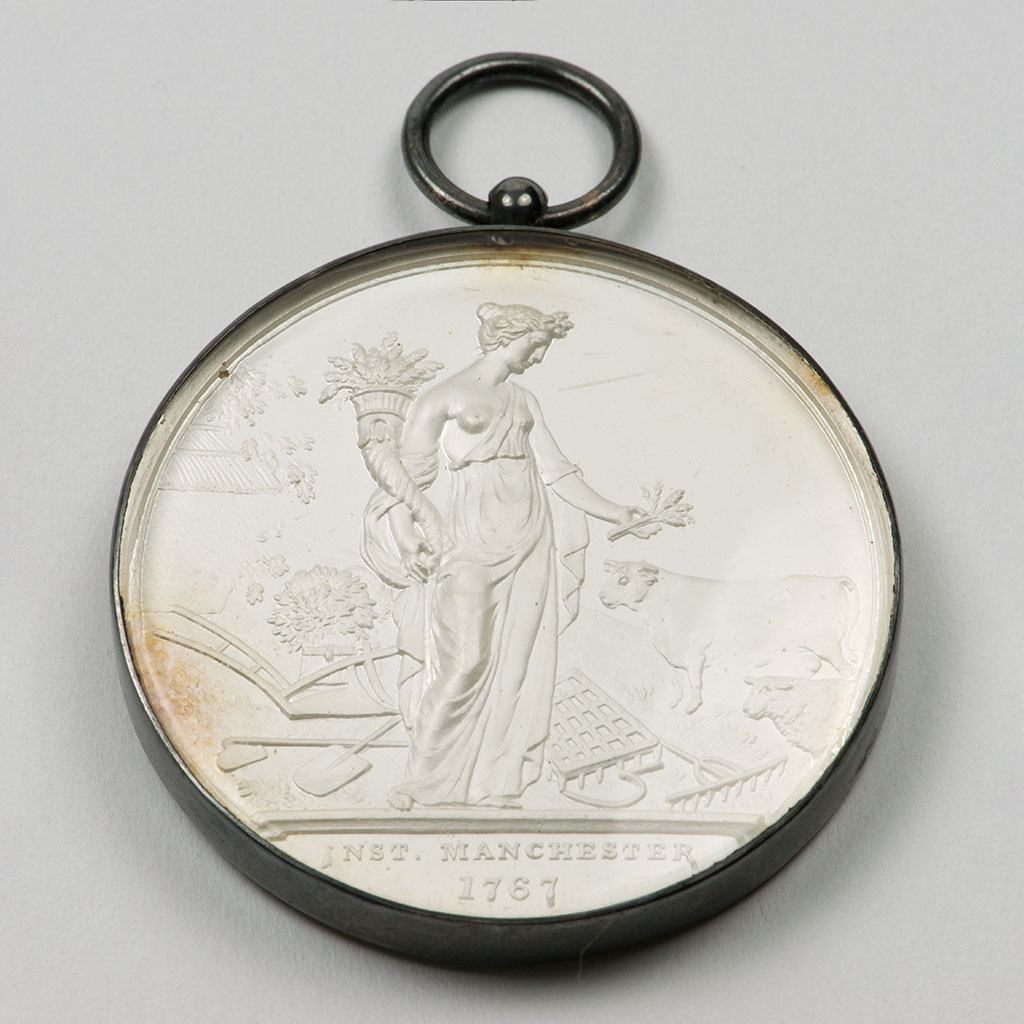 An Early Victorian Silver Prize Medal For Grass Seeds.