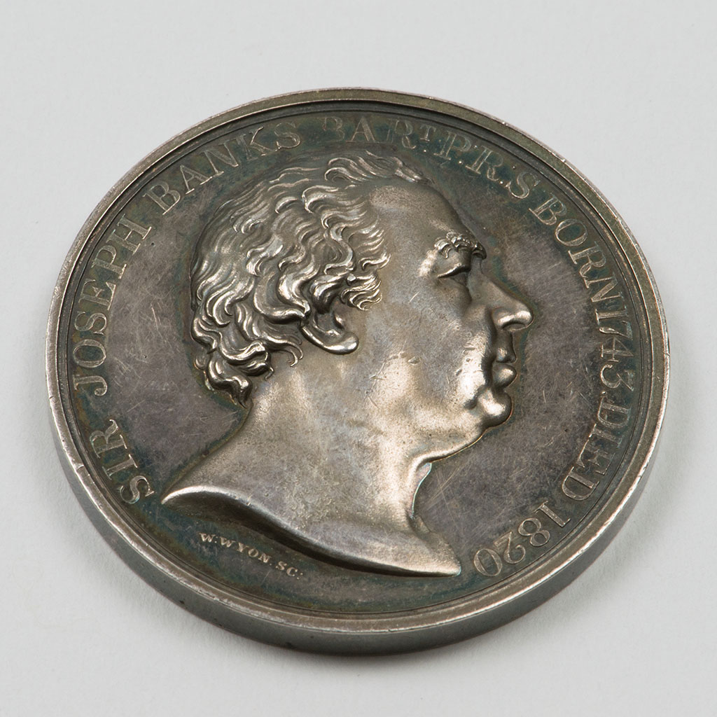 A George IV Silver Medal For Apples, Pears And Peaches.
