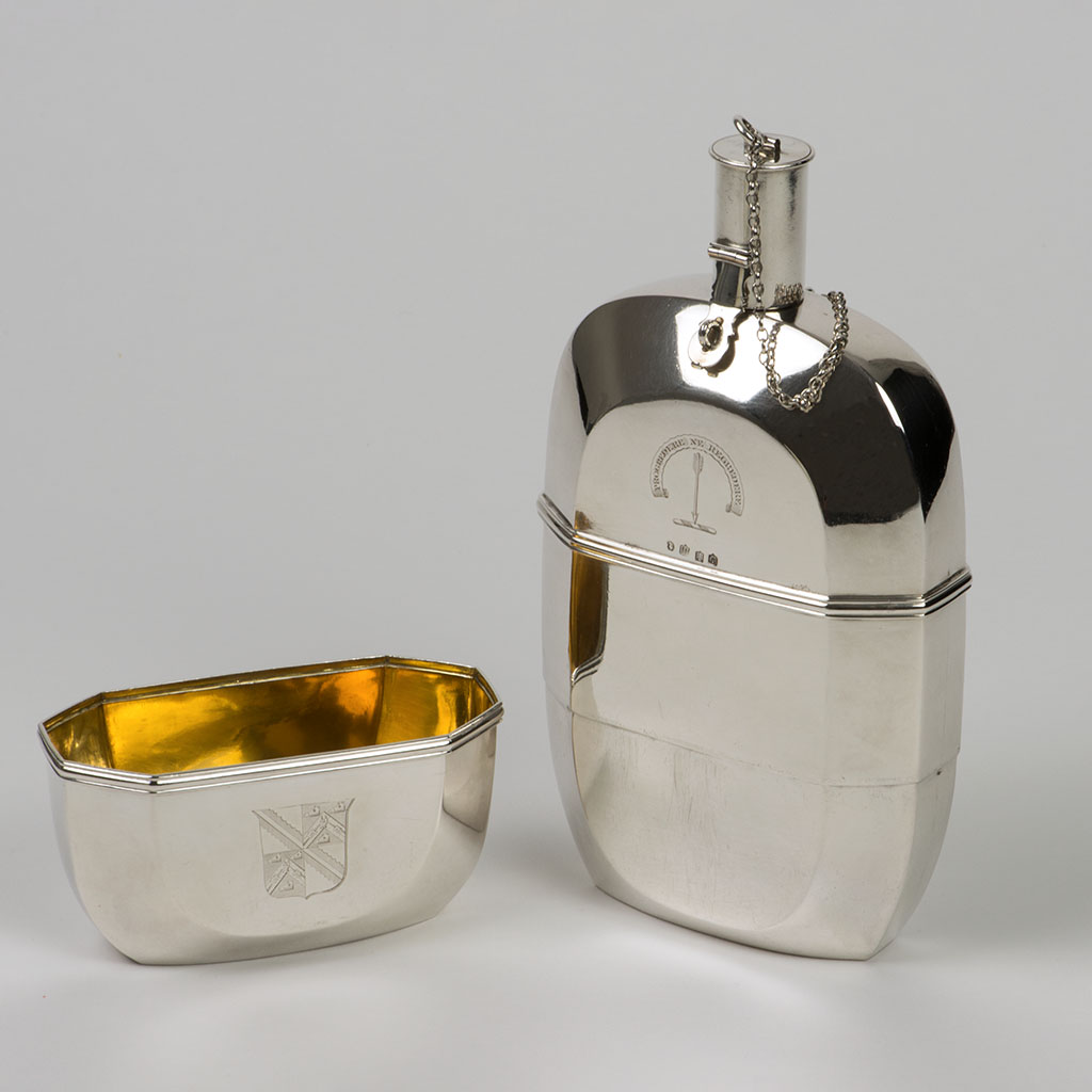 An Exceptional George III Scottish Silver Flask.