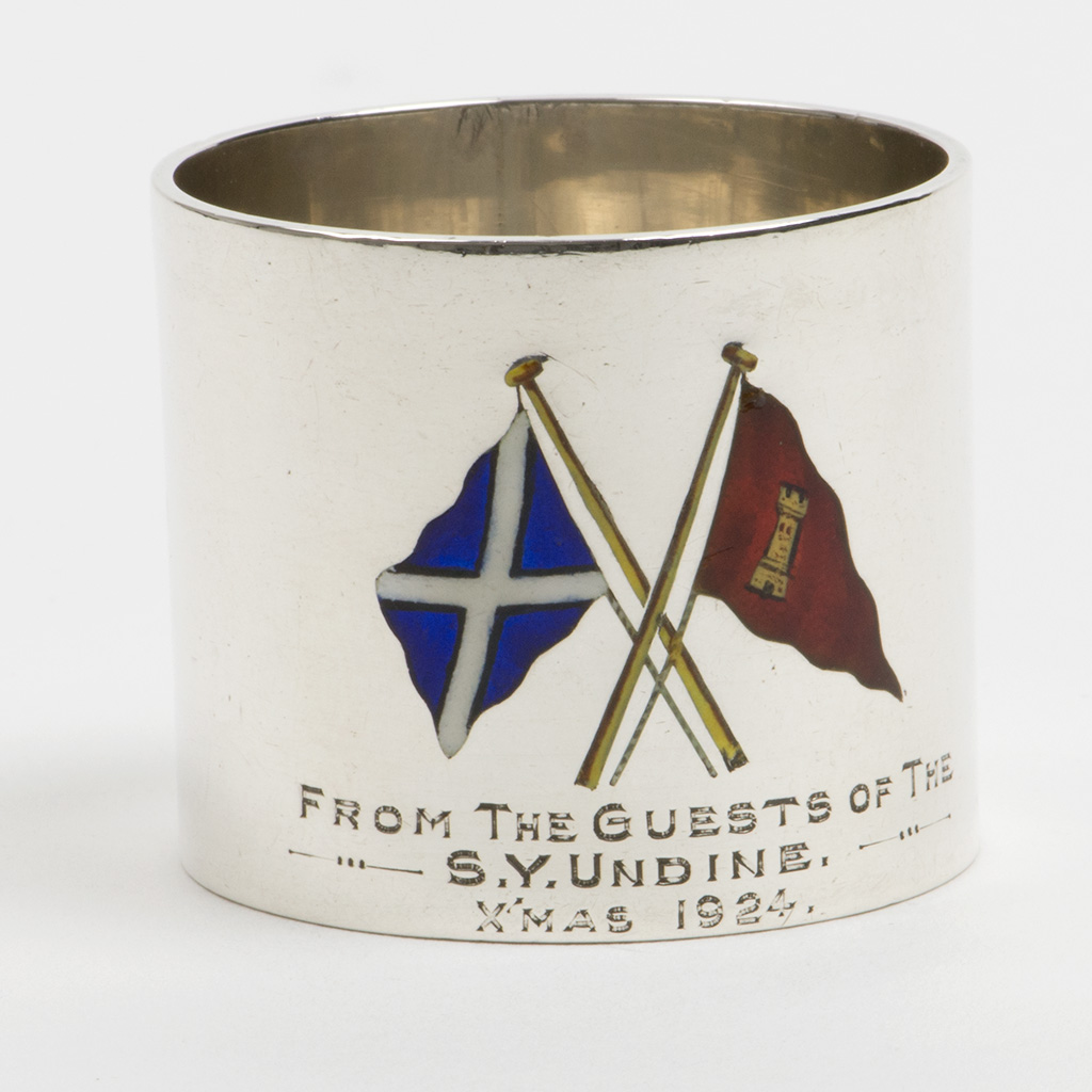 A Silver Napkin Ring: A Christmas Present From The Steam Yacht Undine.
