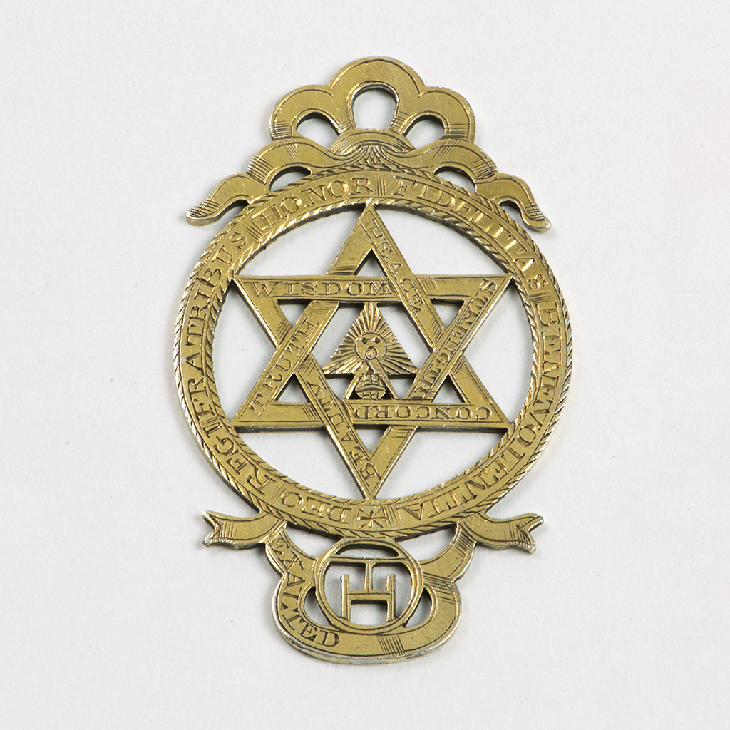 An Early 19th Century Unmarked Silver-gilt Masonic Jewel.
