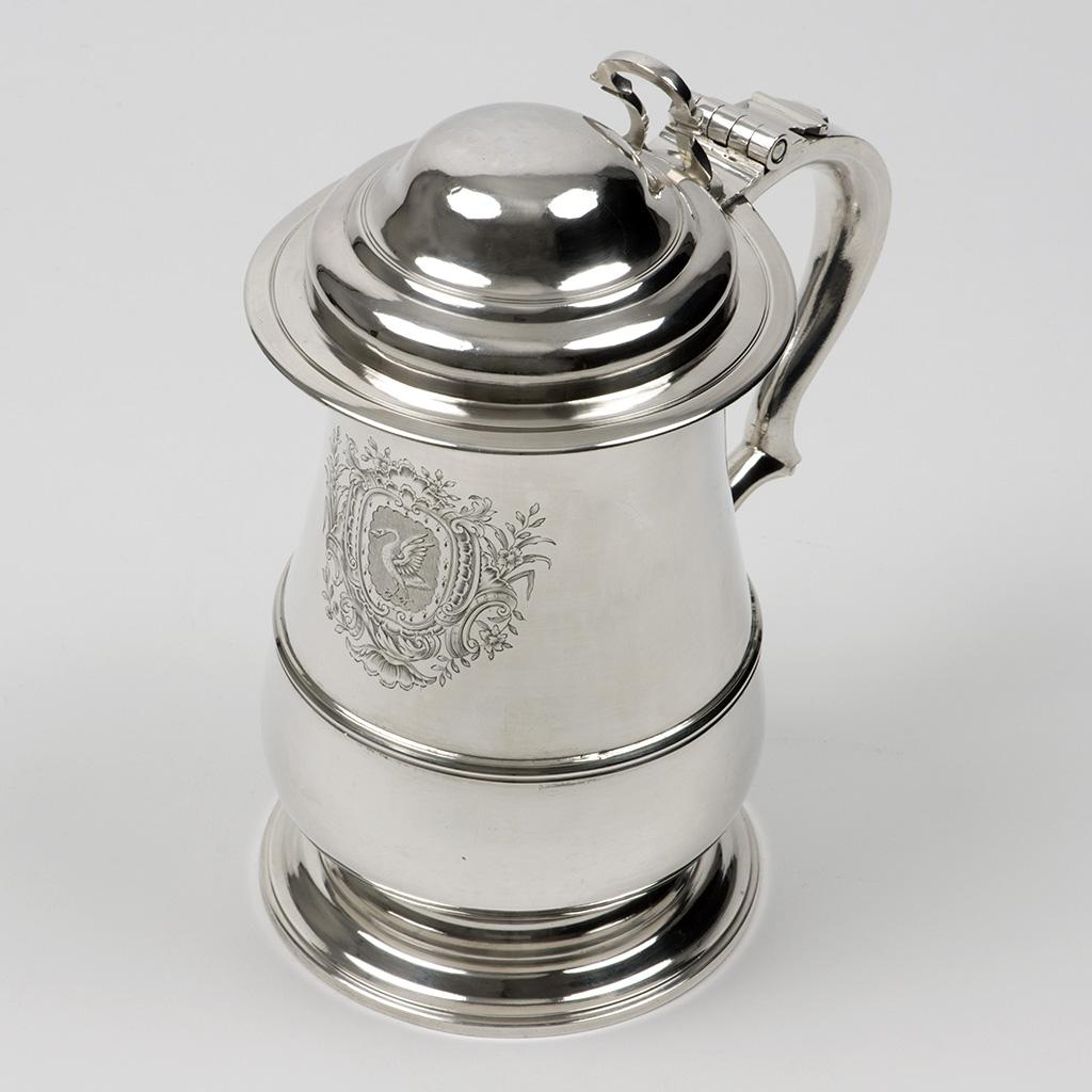 A George II Silver Quart Tankard.