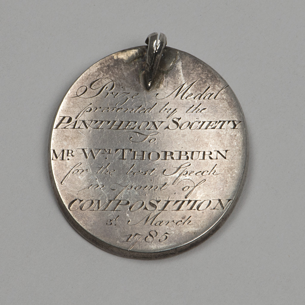 A George III Scottish Silver Medal For The Pantheon Society, Edinburgh.