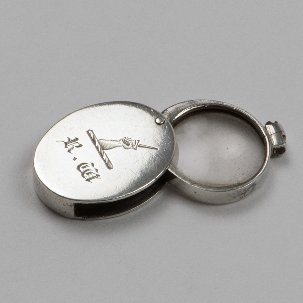 An Early 19th Century Miniature English Silver Magnifying Glass.