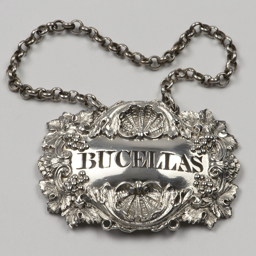 A George IV Silver Wine Label For Bucellas.