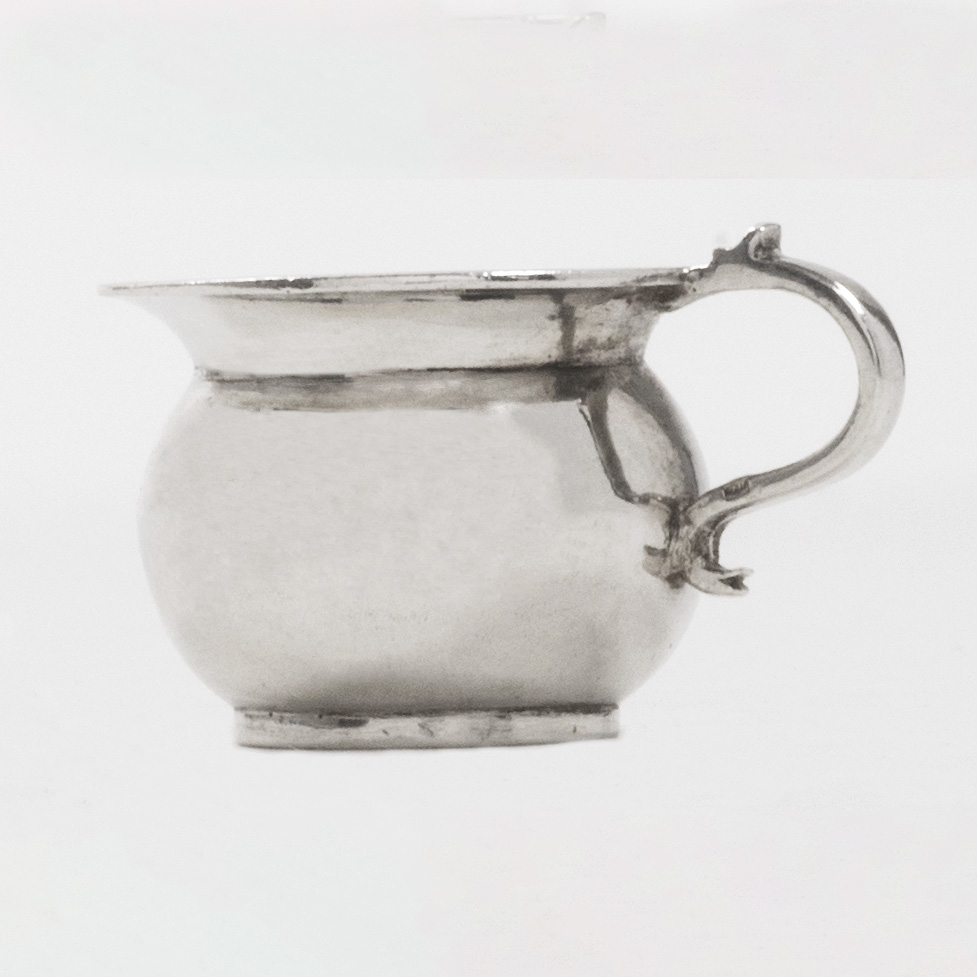 An 18th Century Dutch Toy Silver Chamberpot.