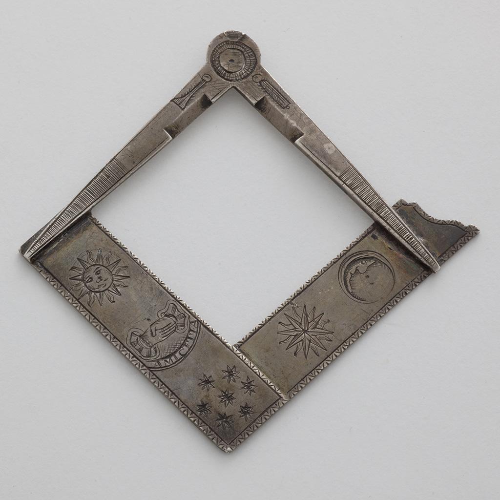 An Unmarked George III Silver Masonic Jewel.