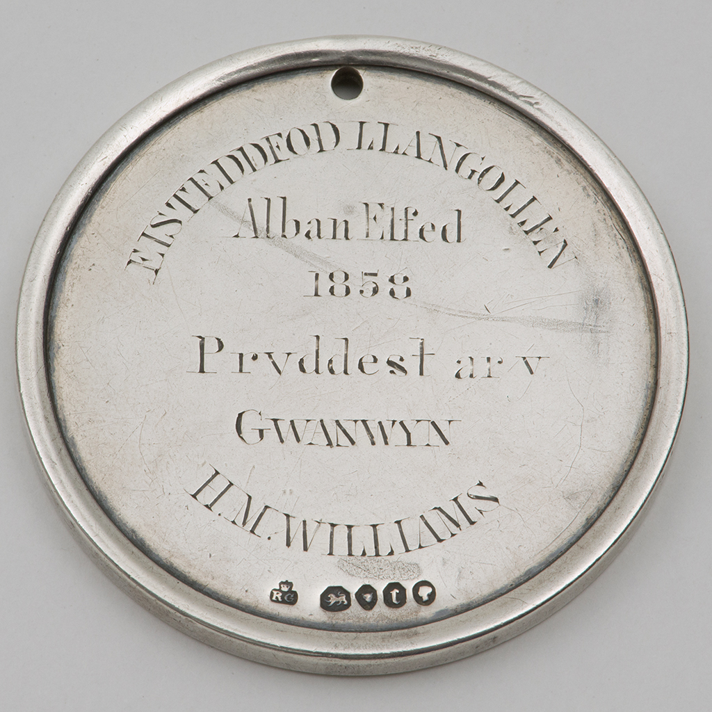 A Victorian Silver Eisteddfod Prize Medal.